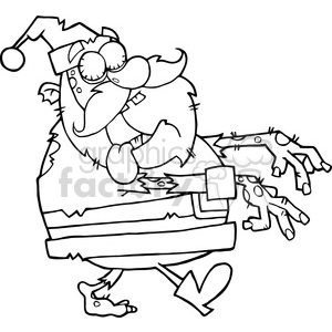5085-Santa-Zombie-Walking-With-Hands-In-Front-Royalty-Free-RF-Clipart-Image clipart. Royalty-free image # 386240