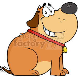 5216-Happy-Fat-Dog-Cartoon-Mascot-Character-Royalty-Free-RF-Clipart-Image clipart. Royalty-free image # 386290