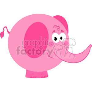 5173-cartoon-pink-elephant-royalty-free-rf-clipart-image
