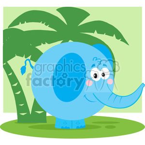 5174-Cartoon-Elephant-Royalty-Free-RF-Clipart-Image clipart. Royalty-free image # 386330