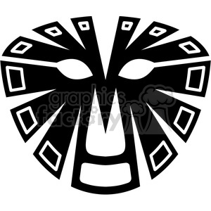 tribal masks vinyl ready art 042 clipart. Commercial use image # 386410