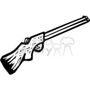 black and white shotgun clipart. Commercial use image # 173691