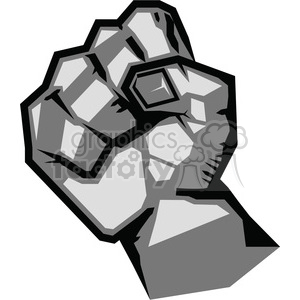 fist rebellion uprising resistance illustration art clipart. Royalty-free image # 386456