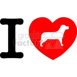 Illustration-I-Love-My-Dog-Text-With-Red-Heart clipart. Commercial use image # 386476
