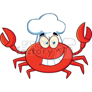 Crab-Chef-Cartoon-Mascot-Character clipart. Commercial use image # 386576