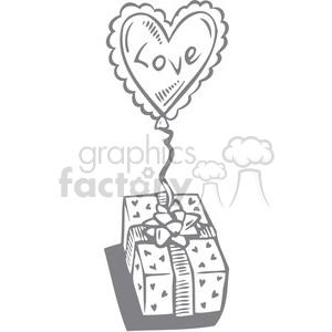 Valentines gift clipart. Royalty-free image # 386605