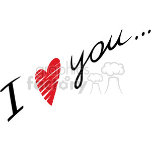 I love you written clipart. Royalty-free image # 386625