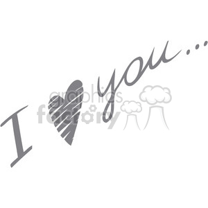I love you writing clipart. Royalty-free image # 386635