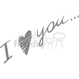 love Valentines hearts cartoon vector I+love+you
