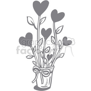 gray flowers clipart. Royalty-free image # 386685