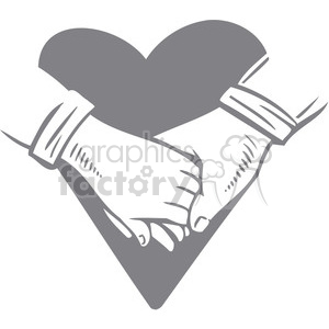 couple holding hands clipart. Royalty-free image # 386695