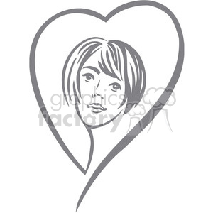 girl in love clipart. Commercial use image # 386715