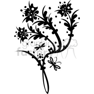 Chinese swirl floral design 061 clipart. Commercial use image # 386723