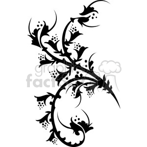 Chinese swirl floral design 051 clipart. Commercial use image # 386733