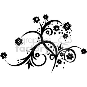 Chinese swirl floral design 044 clipart. Commercial use image # 386743