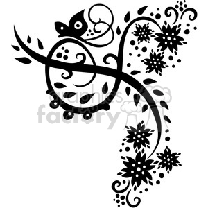 Chinese swirl floral design 019 clipart. Commercial use image # 386753