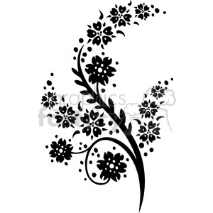Chinese swirl floral design 052 clipart. Commercial use image # 386813