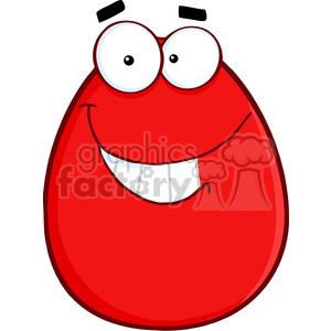 Clipart of Smiling Red Easter Egg Cartoon Character clipart. Royalty-free image # 386873