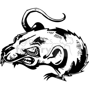 mad rat clipart. Commercial use image # 387124