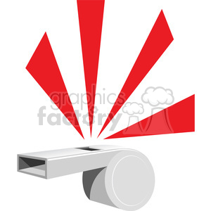 whistle blowing clipart. Royalty-free image # 387144