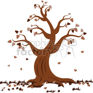 vector cartoon tree in the fall autumn clipart. Royalty-free image # 387164