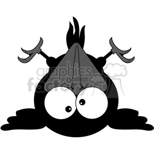 cartoon Crow Tired Fallen clipart. Commercial use image # 387204