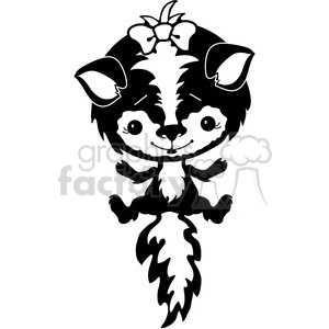 Skunk 3 clipart. Commercial use image # 387234