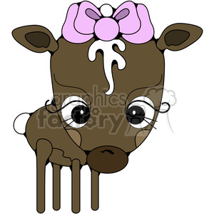 Brown Deer Doe clipart. Royalty-free image # 387284