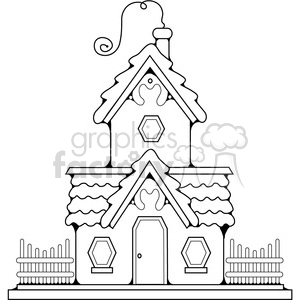 Cottage outline clipart. Commercial use image # 387304