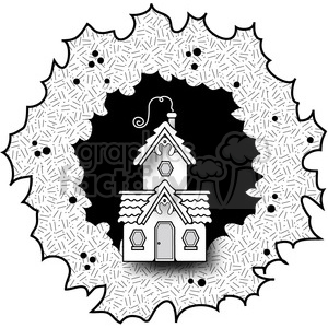 Cottage Wreath Textured clipart. Royalty-free image # 387314