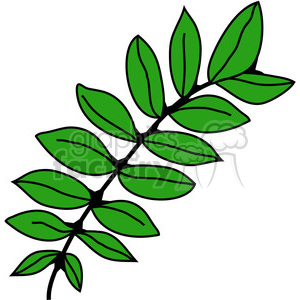 green black Locust Leaf clipart. Royalty-free image # 387332