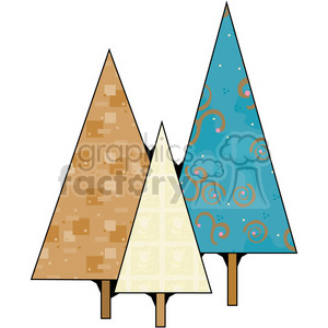 Christmas Trees 3 clipart. Royalty-free image # 387345