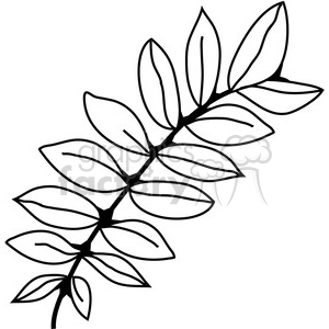 Black Locust Leaf clipart. Commercial use image # 387372