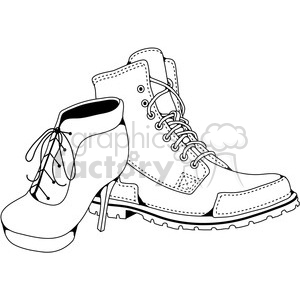 His Hers Boots clipart. Royalty-free image # 387414