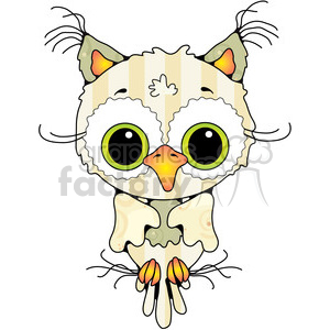 Owl Front View Colored 2 clipart. Royalty-free image # 387420