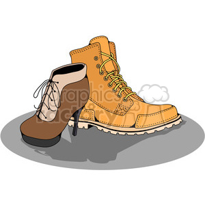His Hers Boots in color clipart. Royalty-free image # 387436