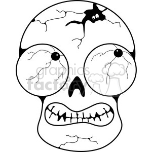 Skull Scary 2 clipart. Royalty-free image # 387442