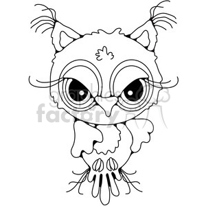 Owl Front View clipart. Royalty-free image # 387461