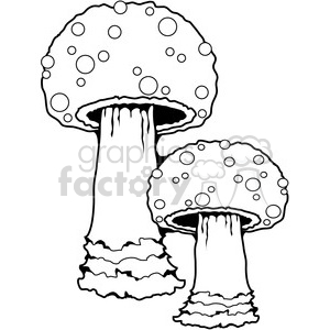 Mushroom 03 Group clipart. Royalty-free image # 387475