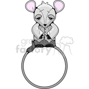 mouse frame in color clipart. Royalty-free image # 387485