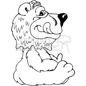 Bear Bobblehead Sideview clipart. Commercial use image # 387493