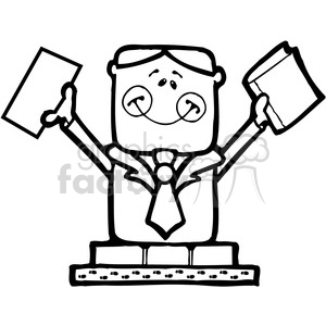 SMORE Businessman in BW clipart. Royalty-free image # 387575
