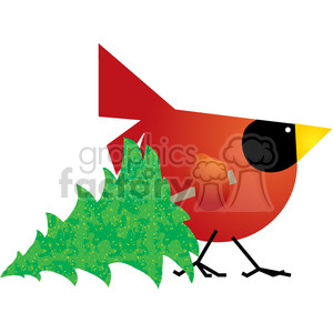 cartoon red cardinal bird birds