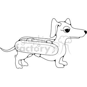 Dachshund Hotdog Costume clipart. Commercial use image # 387595