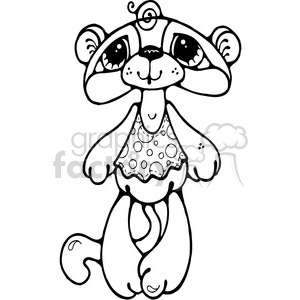 Bear Monkey Cat Doll clipart. Commercial use image # 387614