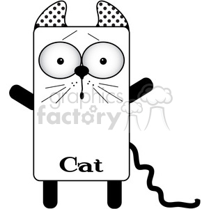 Cat iPhone Case illustration clipart. Royalty-free image # 387723