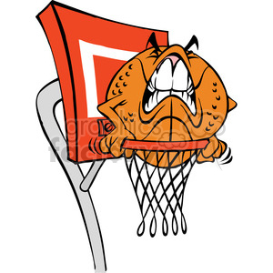 cartoon basketball character ball clipart. Royalty-free image # 387820