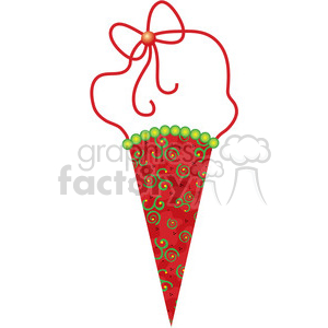 Christmas Tree Cone Ornament  clipart clipart. Royalty-free image # 388020