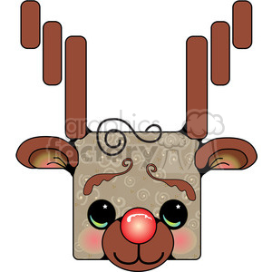 Rudolf-Head clipart. Commercial use image # 388038