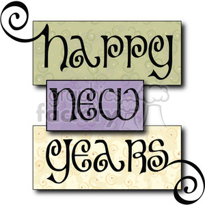 Happy New Years Blocks 02 clipart
